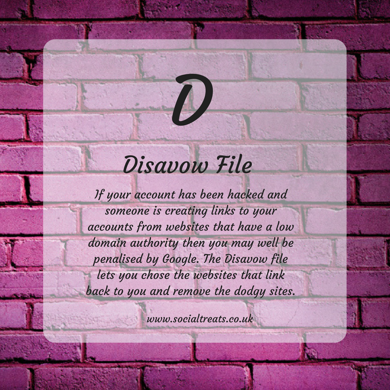 Disavow file